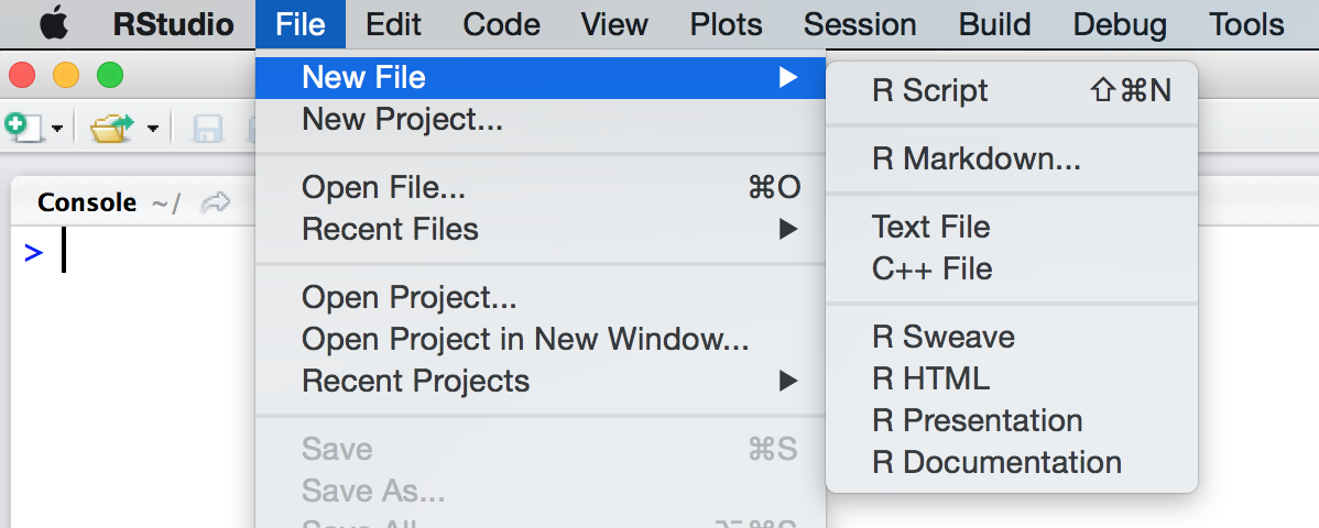 Editing and Executing Code – RStudio Support