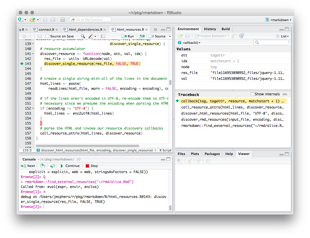 Debugging with RStudio – RStudio Support