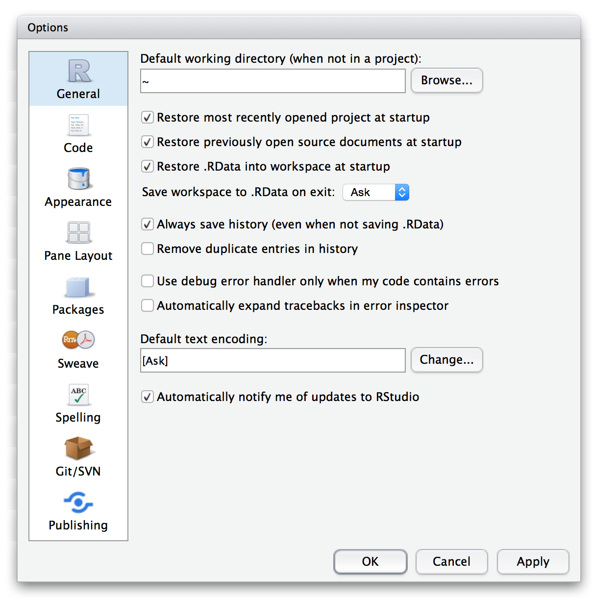 Customizing RStudio – RStudio Support