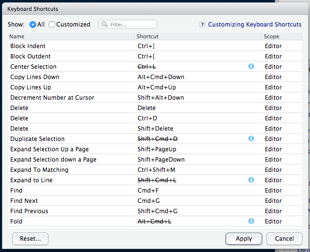 Customizing Keyboard Shortcuts Rstudio Support
