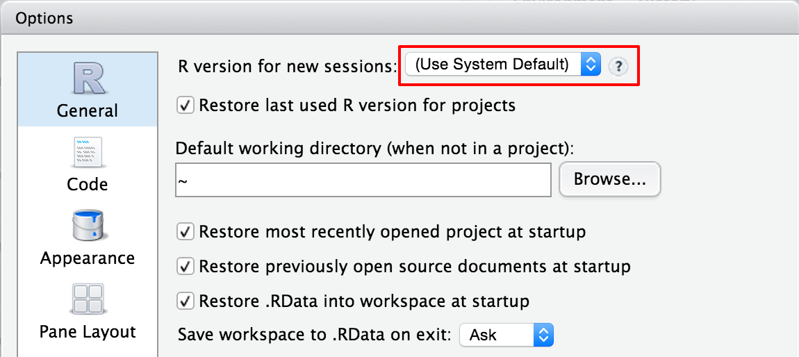 Using multiple versions of R with RStudio Server Pro