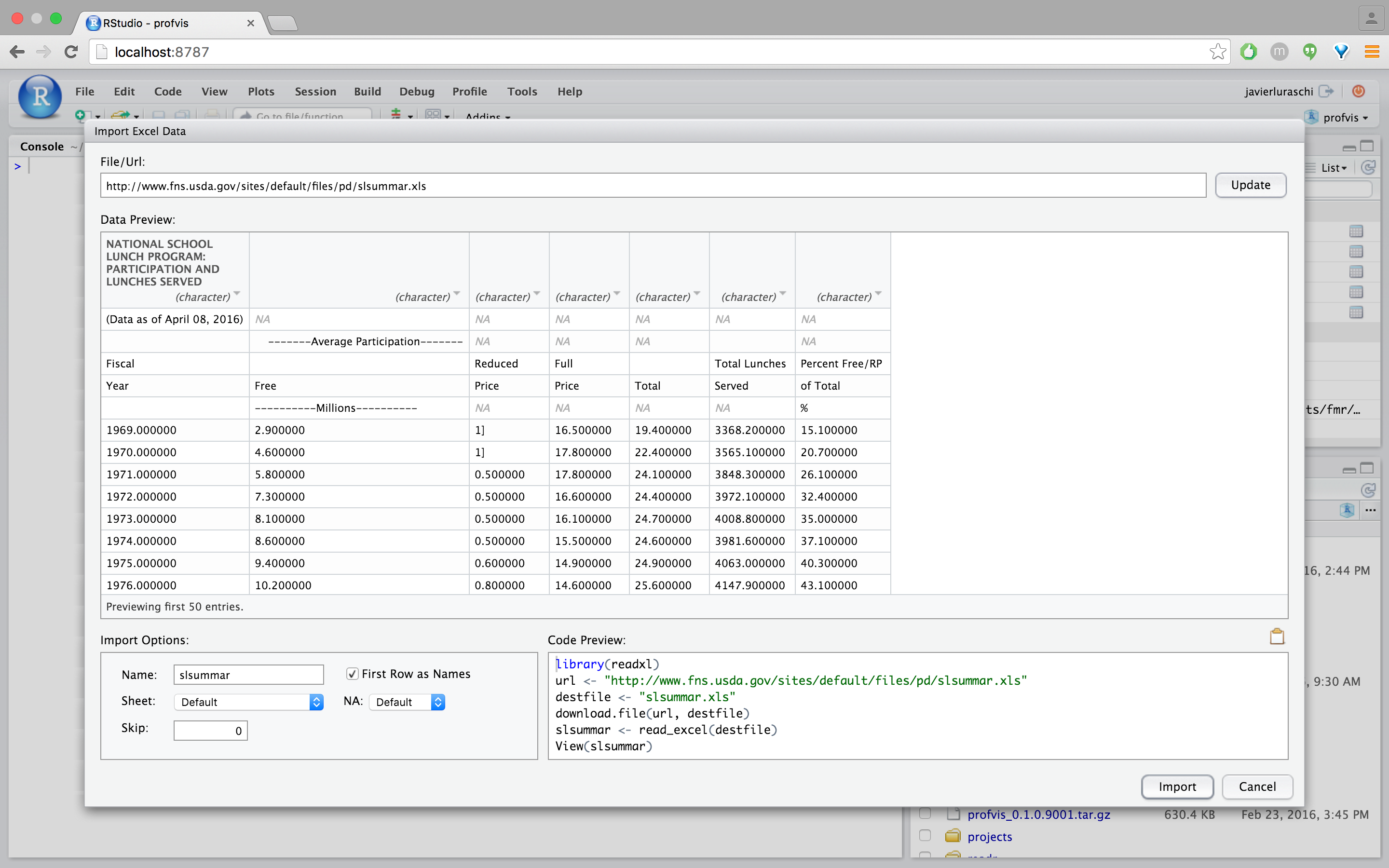 Importing Data with RStudio – RStudio Support